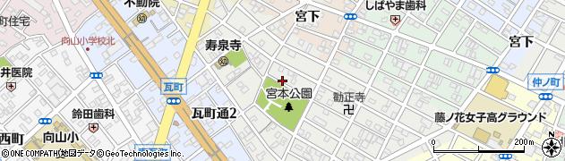 愛知県豊橋市瓦町周辺の地図