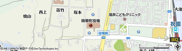 京都府相楽郡精華町周辺の地図