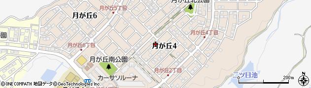 兵庫県神戸市西区月が丘周辺の地図