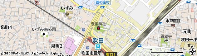 泉殿宮周辺の地図