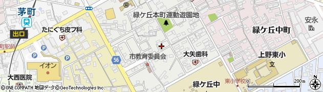 三重県伊賀市緑ケ丘本町周辺の地図