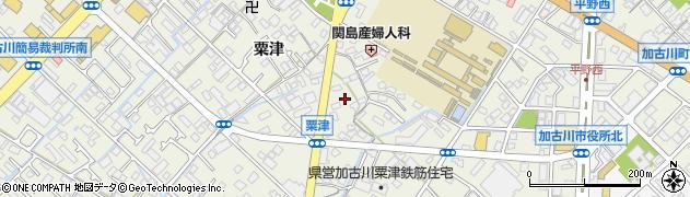 兵庫県加古川市加古川町(粟津)周辺の地図