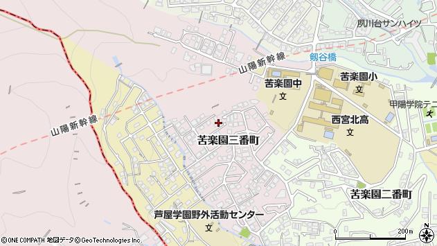 〒662-0081 兵庫県西宮市苦楽園三番町の地図