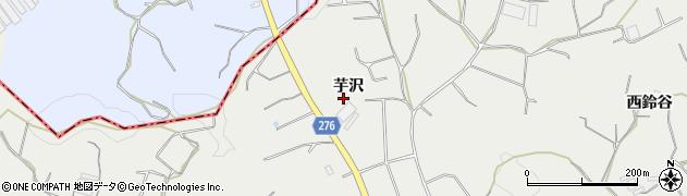 愛知県南知多町(知多郡)内海(芋沢)周辺の地図