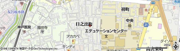 大阪府寝屋川市日之出町周辺の地図