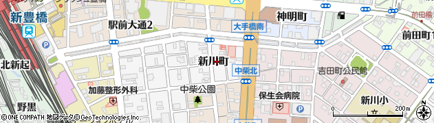 愛知県豊橋市新川町周辺の地図