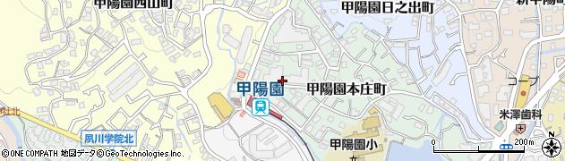 日商岩井甲陽園マンション周辺の地図