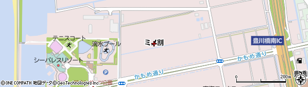 愛知県豊橋市神野新田町(ミノ割)周辺の地図