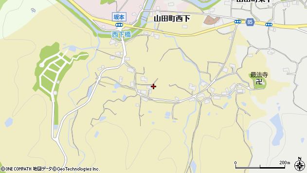 〒651-1263 兵庫県神戸市北区山田町西下の地図