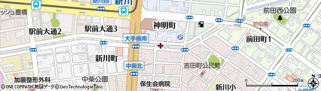 株式会社まいづる寿司店注文受付周辺の地図
