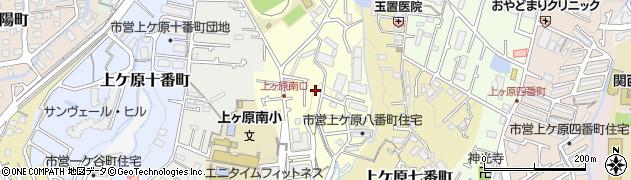 兵庫県西宮市上ケ原八番町周辺の地図
