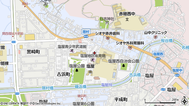 〒678-0258 兵庫県赤穂市古浜町の地図