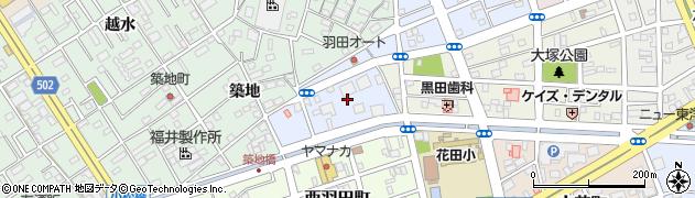 愛知県豊橋市築地町周辺の地図
