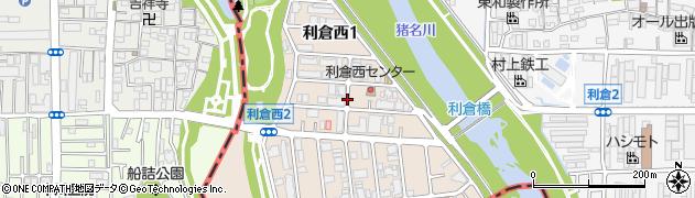 大阪府豊中市利倉西周辺の地図
