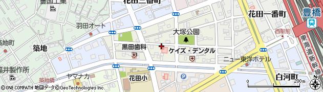 愛知県豊橋市花田二番町周辺の地図