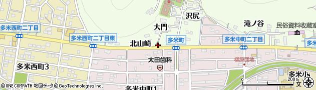 愛知県豊橋市多米町(松下)周辺の地図