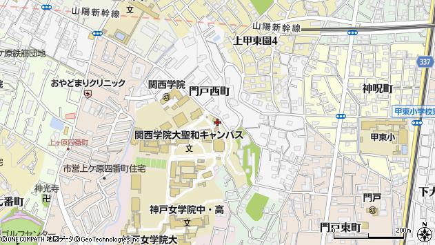 〒662-0828 兵庫県西宮市門戸西町の地図