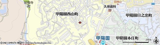兵庫県西宮市甲陽園西山町周辺の地図