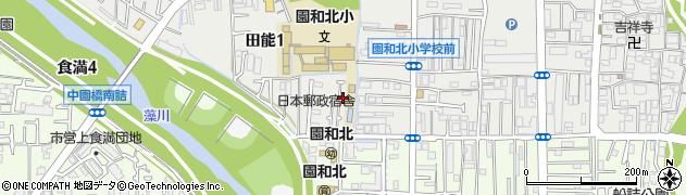 兵庫県尼崎市田能1丁目周辺の地図