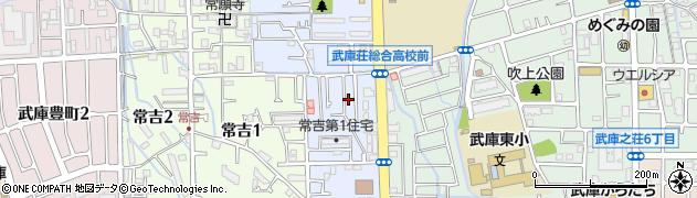 兵庫県尼崎市武庫の里1丁目周辺の地図