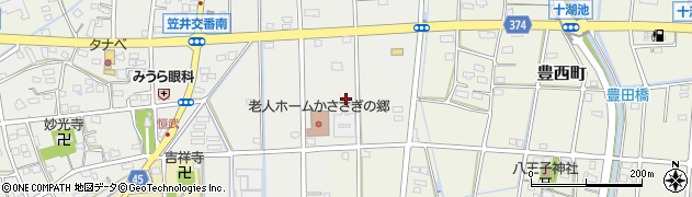静岡県浜松市東区恒武町周辺の地図
