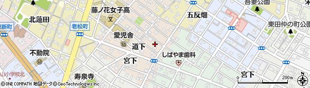 愛知県豊橋市住吉町周辺の地図