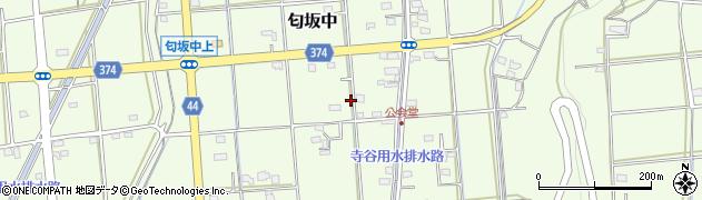 静岡県磐田市匂坂中周辺の地図