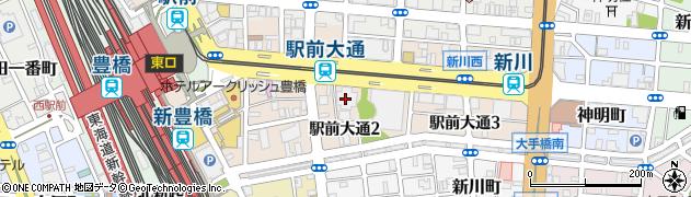 愛知県豊橋市駅前大通周辺の地図
