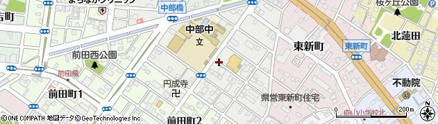 愛知県豊橋市舟原町周辺の地図