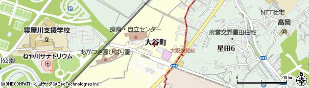 大阪府寝屋川市大谷町周辺の地図