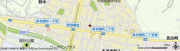 愛知県豊橋市多米西町周辺の地図