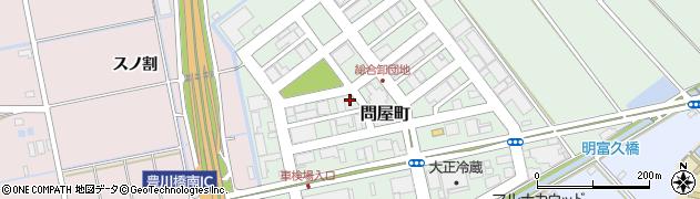 愛知県豊橋市問屋町周辺の地図