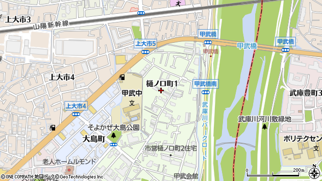 〒663-8011 兵庫県西宮市樋ノ口町の地図
