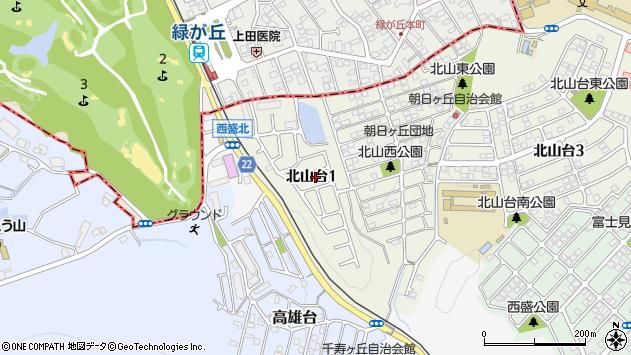 〒651-2215 兵庫県神戸市西区北山台の地図