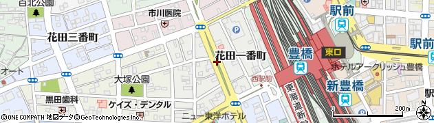 愛知県豊橋市花田一番町周辺の地図
