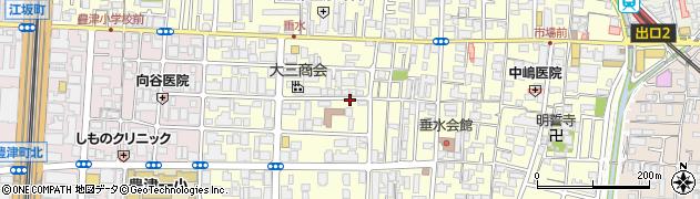 大阪府吹田市垂水町周辺の地図