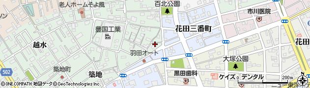 愛知県豊橋市花田町(稲場)周辺の地図