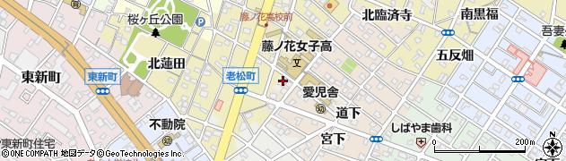 愛知県豊橋市瓦町(臨済寺前)周辺の地図