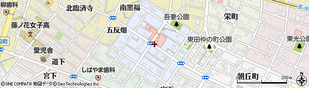 愛知県豊橋市吾妻町周辺の地図