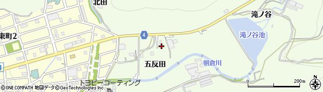 愛知県豊橋市多米町(五反田)周辺の地図