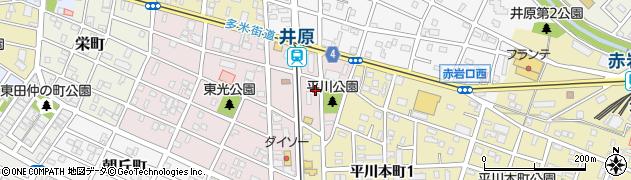 愛知県豊橋市平川町周辺の地図