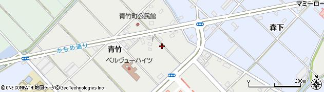愛知県豊橋市青竹町周辺の地図