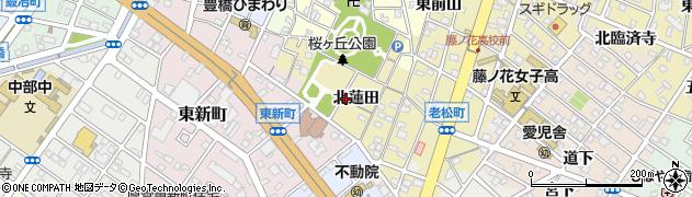 愛知県豊橋市東田町(北蓮田)周辺の地図