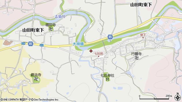 〒651-1262 兵庫県神戸市北区山田町東下の地図