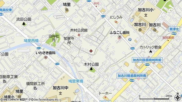 〒675-0038 兵庫県加古川市加古川町木村の地図