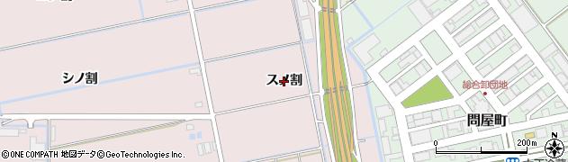 愛知県豊橋市神野新田町(スノ割)周辺の地図