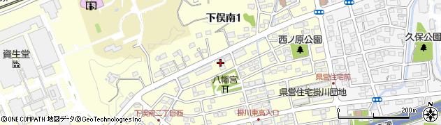静岡県掛川市下俣南周辺の地図