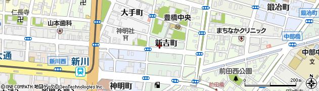 勢川新吉店注文受付周辺の地図