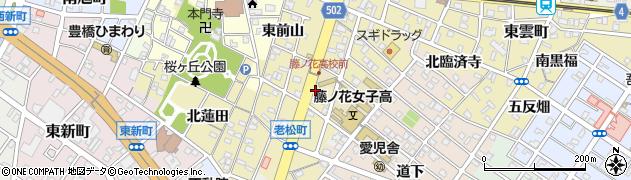 愛知県豊橋市老松町周辺の地図