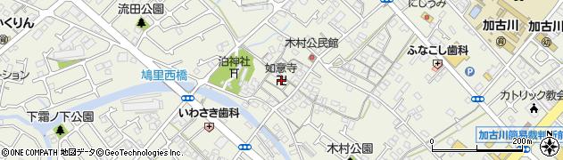 如意寺周辺の地図